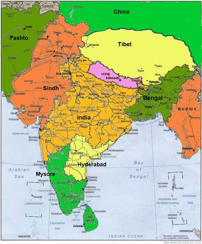 Map india region timelines map india region gumiabroncs Gallery