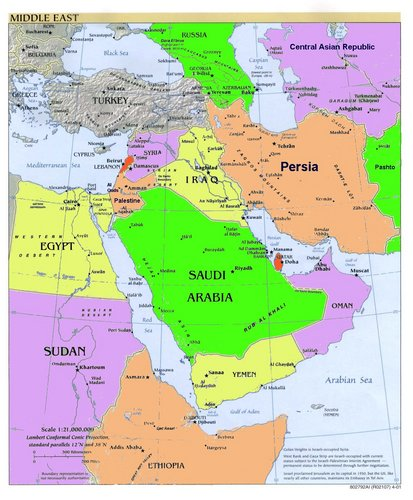 Map Asia Middle East Timelines